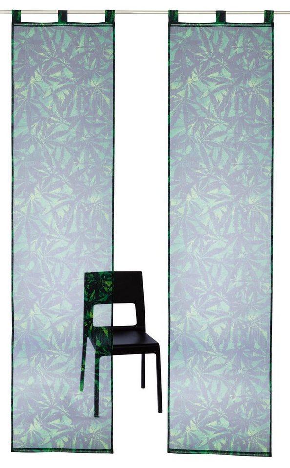 schiebegardine jonas bruno banani schlaufen 2 st ck. Black Bedroom Furniture Sets. Home Design Ideas