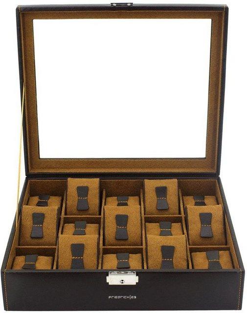 Friedrich23 Uhrenkasten »Bond, 20111-3«, für 15 Uhren | Uhren > Uhrenboxen | Braun | Friedrich23