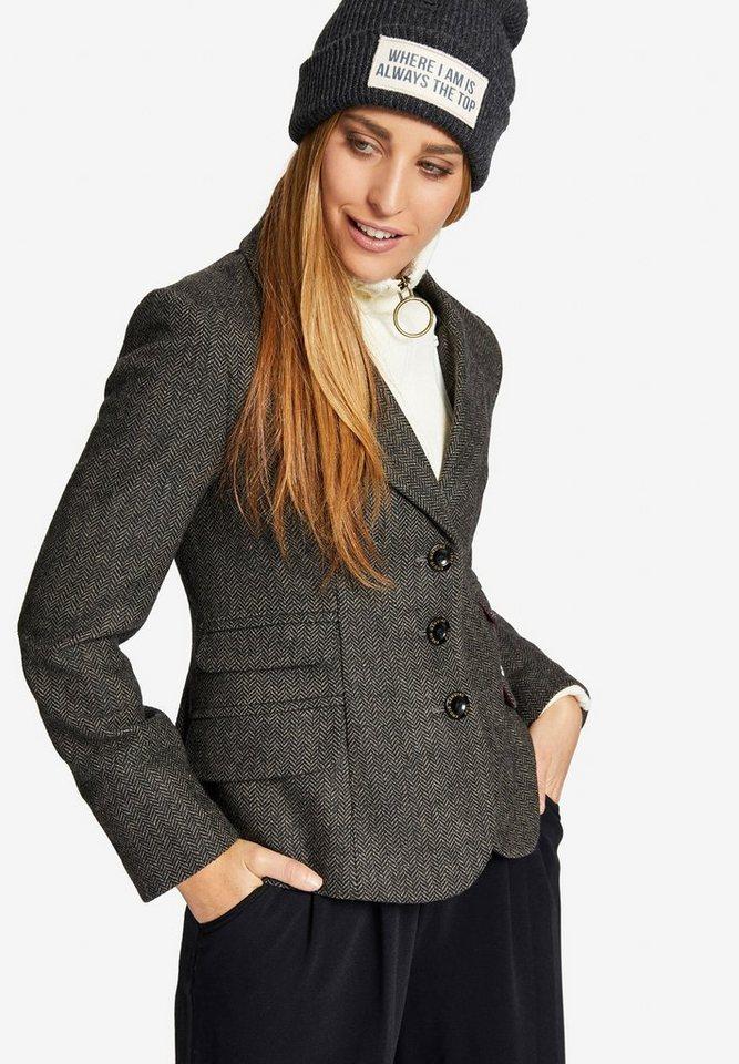 khujo Jackenblazer »ALENA« mit herausnehmbarem Strick-Einsatz | Bekleidung > Blazer > Jackenblazer | Grau | khujo