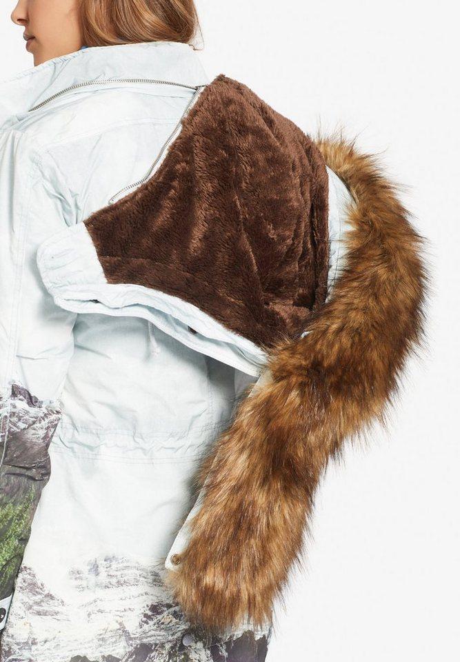 khujo Wintermantel »TIMEA2« mit Kunstfell in der Kapuze