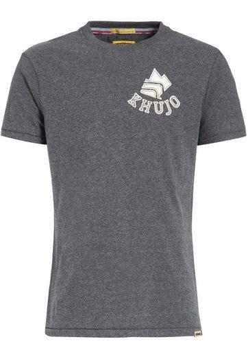 khujo T-Shirt »SYOR« mit Logo-Applikation