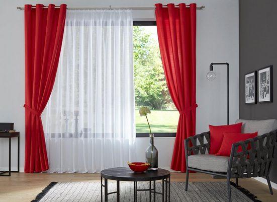 Vorhang »Luna«, my home, Ösen (2 Stück), Inkl. 2 Raffhaltern
