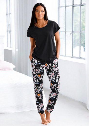 s.Oliver Bodywear Pyjama mit Blumenmuster
