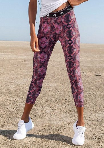 LASCANA 7/8-Leggings »Earth Colours« mit Ethno-Muster