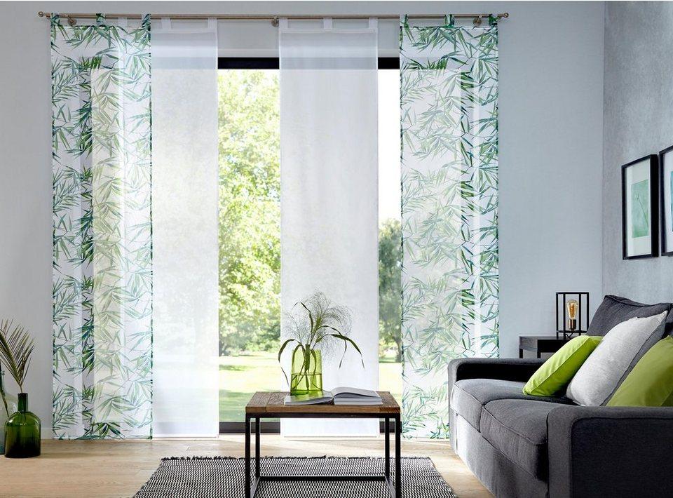 schiebegardine bambus my home schlaufen 2 st ck. Black Bedroom Furniture Sets. Home Design Ideas
