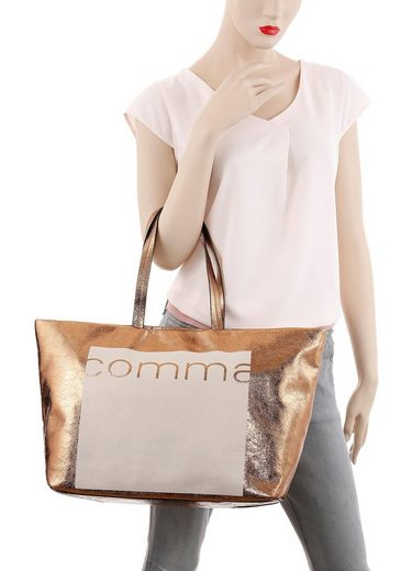 Im Look Metallic Comma Shopper »reverse« Angesagten ET80f0q