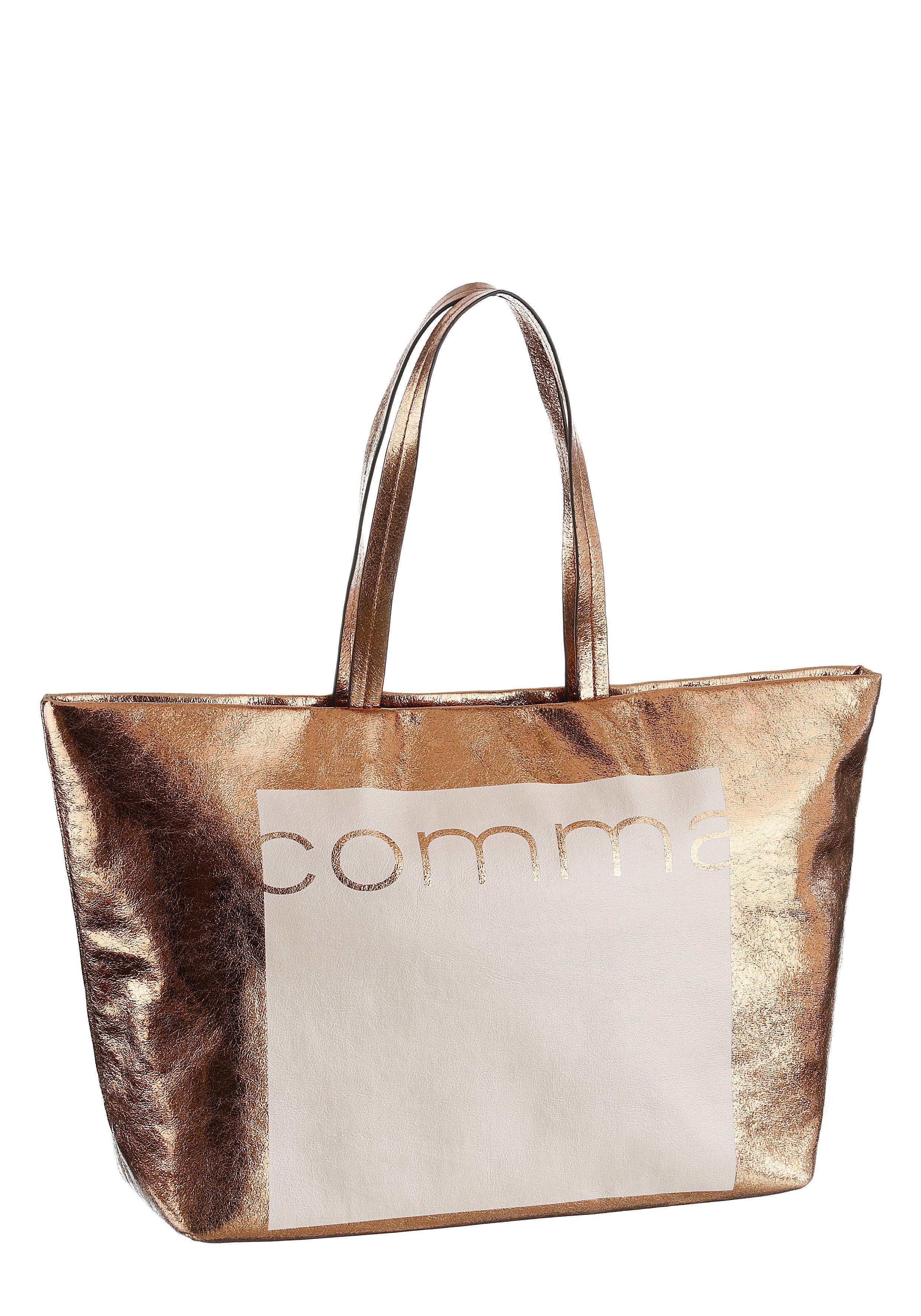 Comma Shopper »REVERSE«, im angesagten Metallic Look