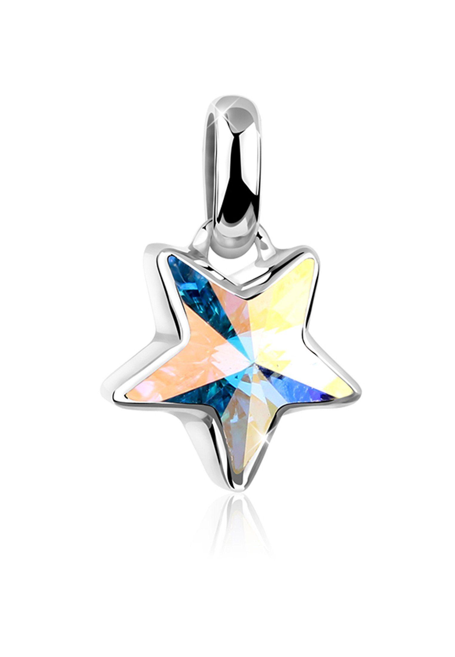 Nenalina Kettenanhänger »Stern Astro Symbol Swarovski® Kristalle 925 Silber«