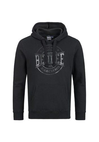 Herren Lonsdale Kapuzensweatshirt mit großer Kapuze schwarz | 04251522301328