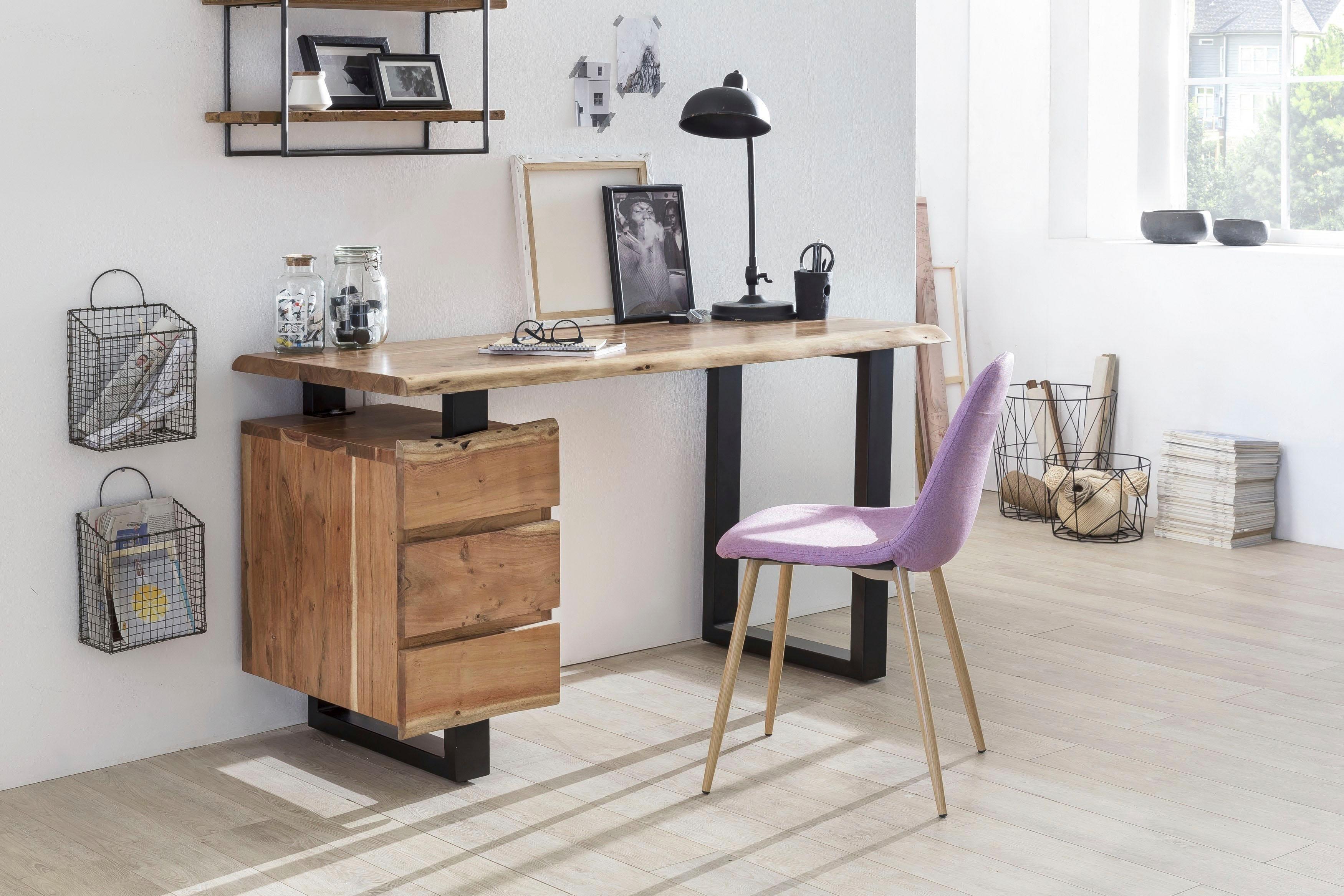 SIT Schreibtisch »Albero«, massive Akazie, mit Baumkante | Büro | Holz - Massivholz | SIT