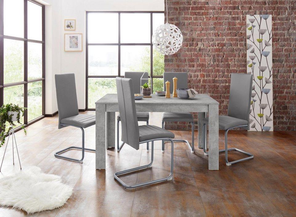 Homexperts Essgruppe Nitro Tisch Breite 140 Cm 6 Stuhle