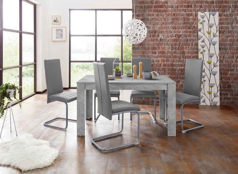 Homexperts Essgruppe »Nitro«, (Set, 7-tlg), Tisch - Breite 140 cm + 6 Stühle