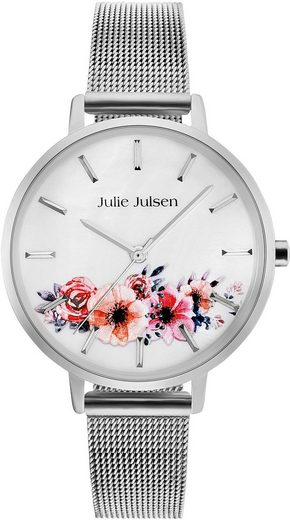 Julie Julsen Quarzuhr »Flower Silver Mesh 2.0, JJW20SME«