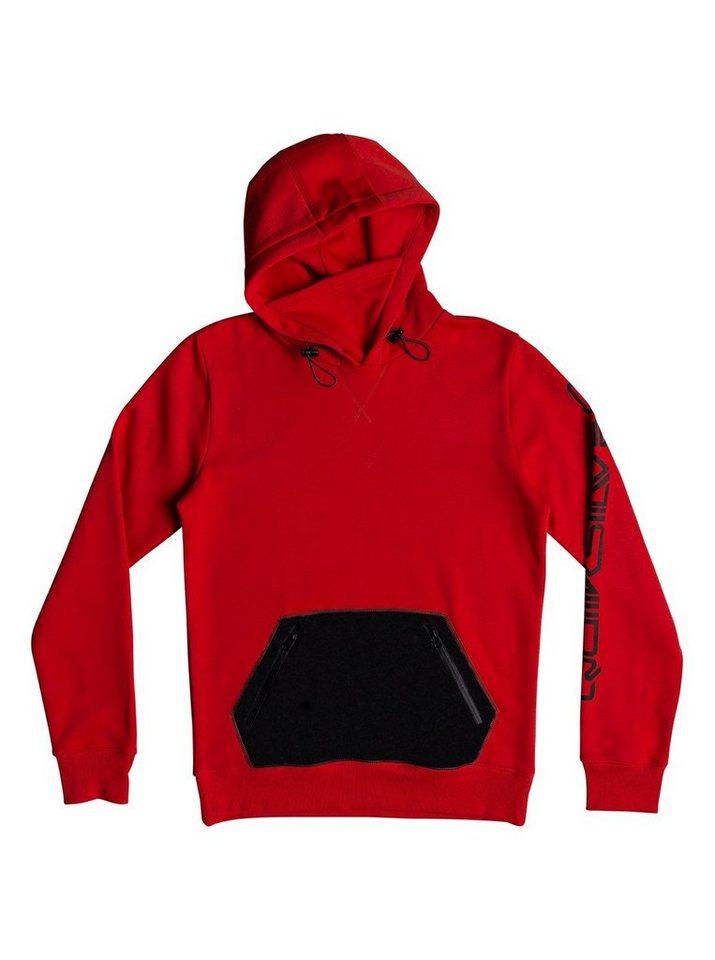 Herren Quiksilver Funktioneller Hoodie Big Logo rot | 03613373693686
