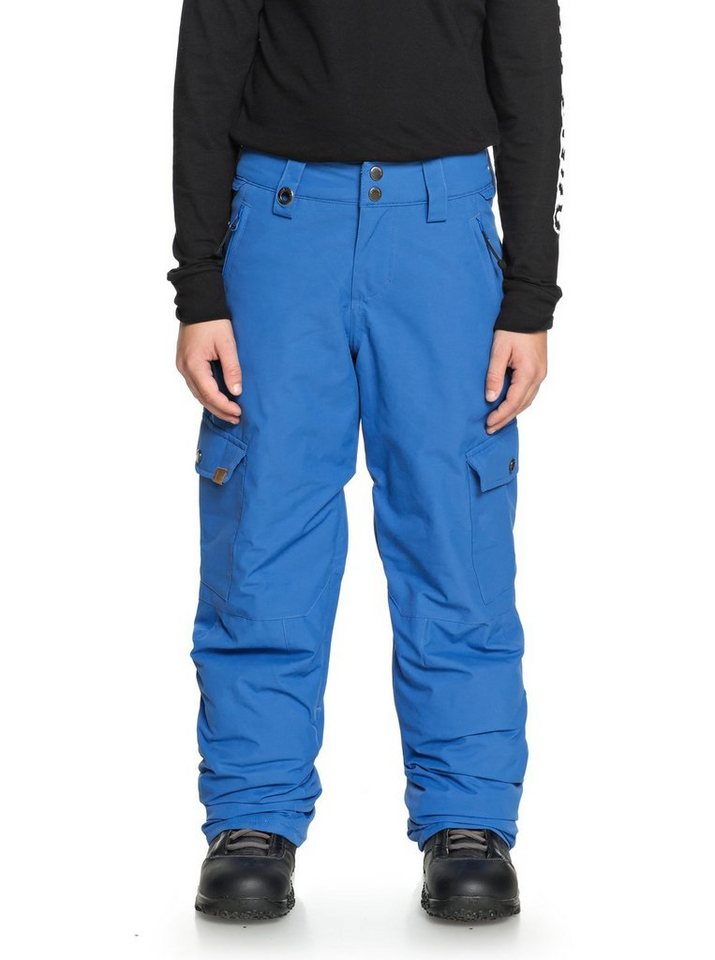 Herren Quiksilver Snowboardhose »Porter« blau  Sport Kinder lange Sporthosen (normal-weit)