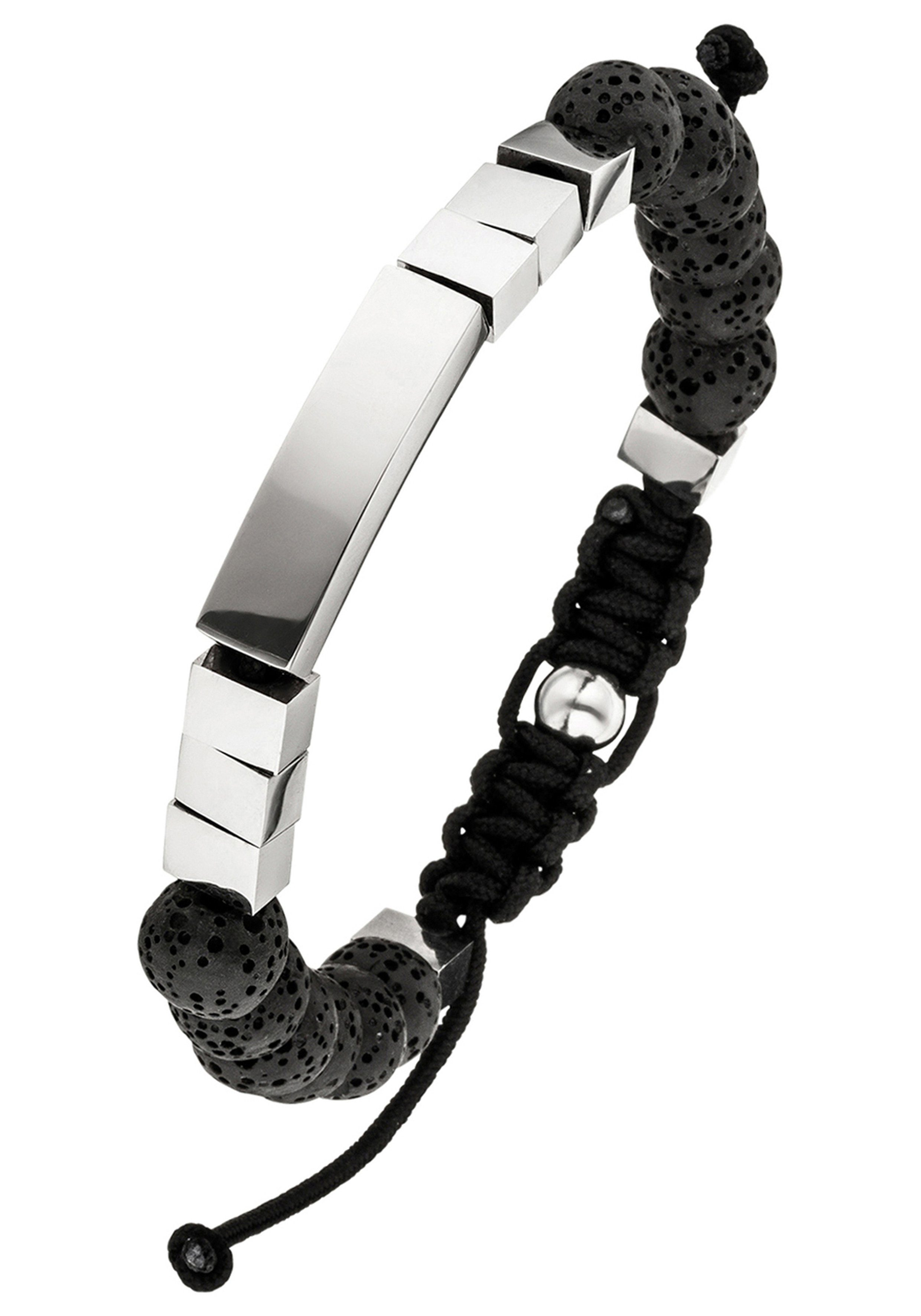 JOBO Armband Lava mit Edelstahl 23 cm