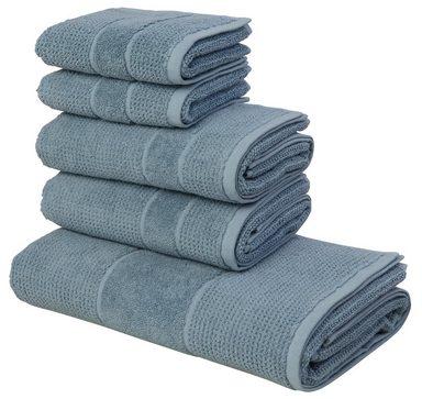 andas Handtuch Set »Kimi«, mit besonderer Struktur (5tlg)