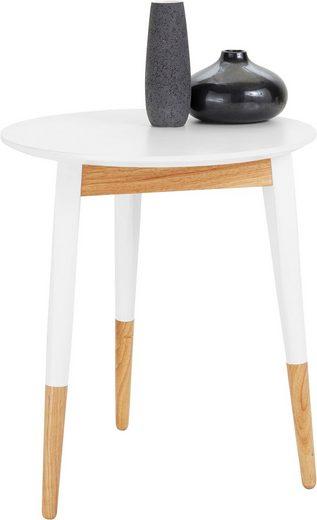 COUCH♥ Beistelltisch »Seja«, aus schönem Massivholz, mit Dreibeingestell, Breite 45 cm