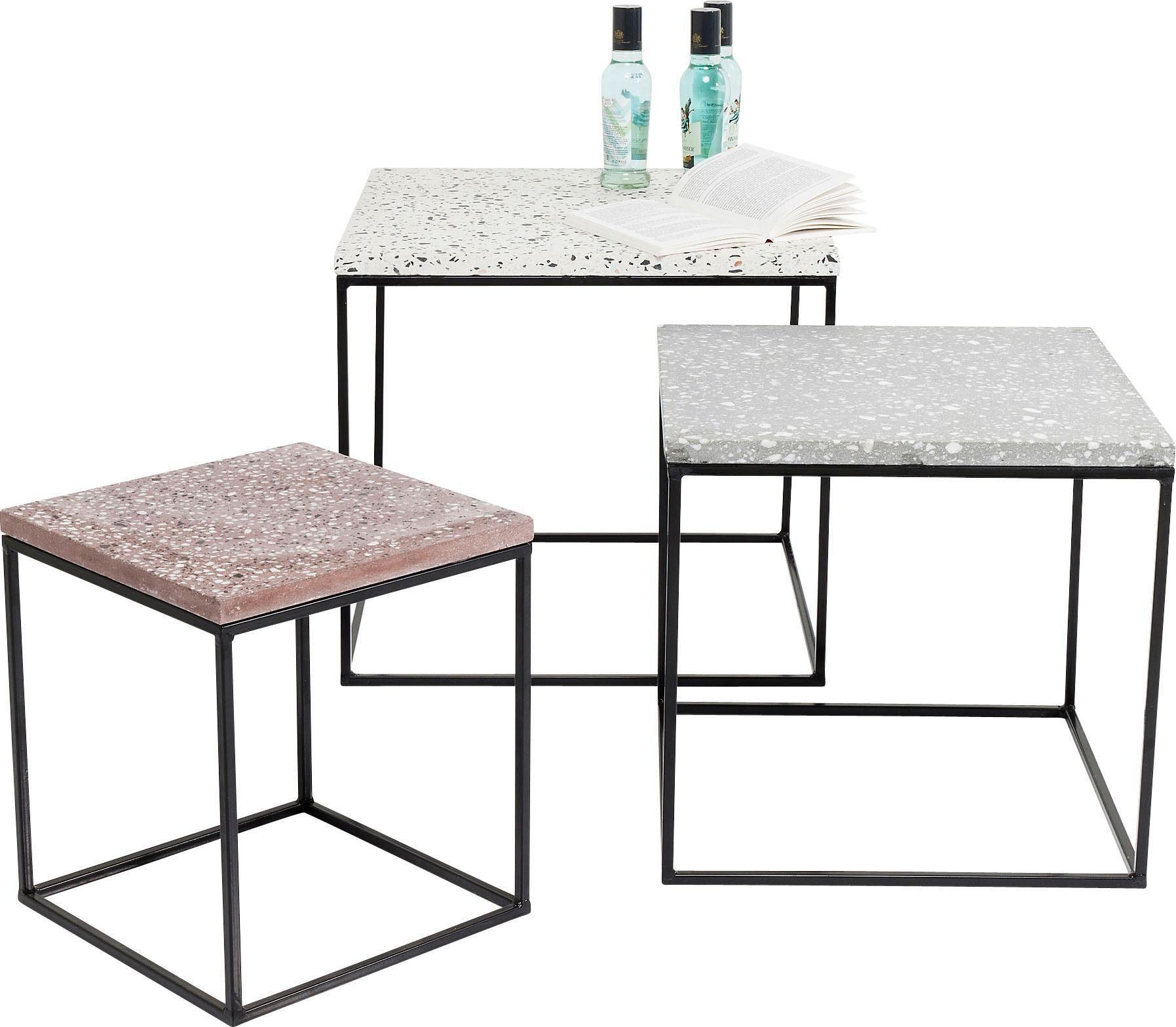 KARE Design Beistelltisch »Terrazzo« (3er-Set)