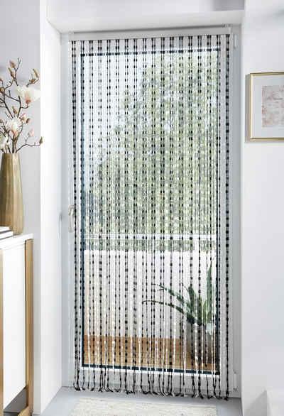 Türvorhang »Pearl«, locker, Hakenaufhängung (1 Stück), Kunststoff, transparent/schwarz, 72 Stränge
