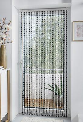 Home affaire Türvorhang »Pearl« Kunststoff, transparent/schwarz, 72 Stränge