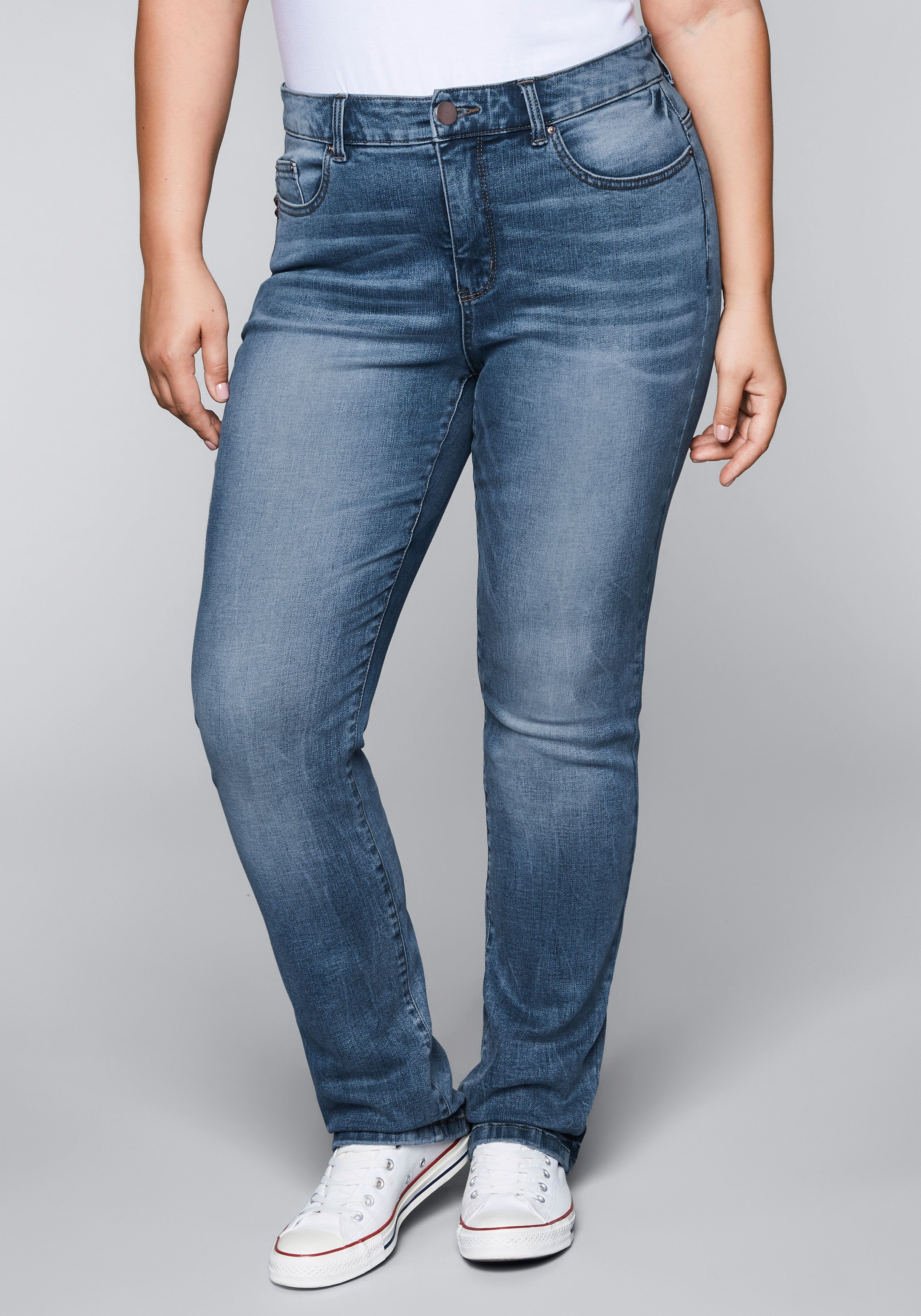 Sheego Gerade Jeans mit Bodyforming Effekt kaufen   OTTO