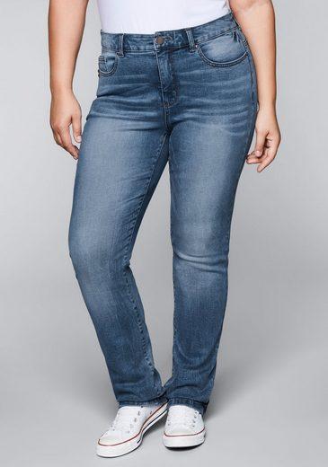 Sheego Gerade Jeans mit Bodyforming-Effekt