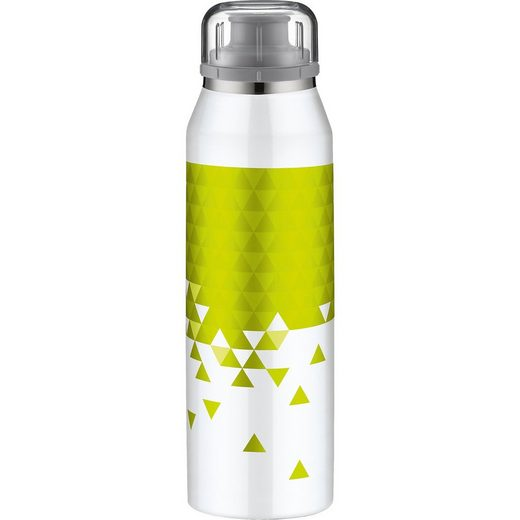 Alfi Isolier-Trinkflasche isoBottle 3D-Effekt Style White-Lime, 5