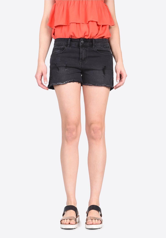 Kaporal Jeans-Short mit funkelnden Verzierungen