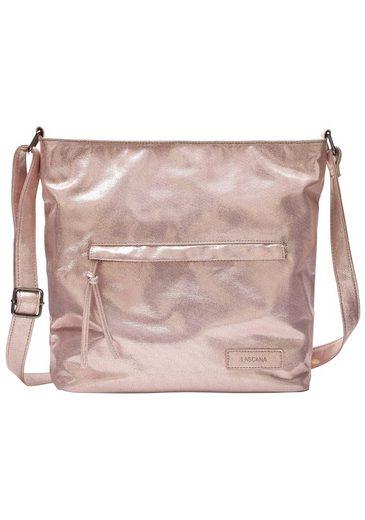 LASCANA Umhängetasche, Handtasche mit Glanzeffekt