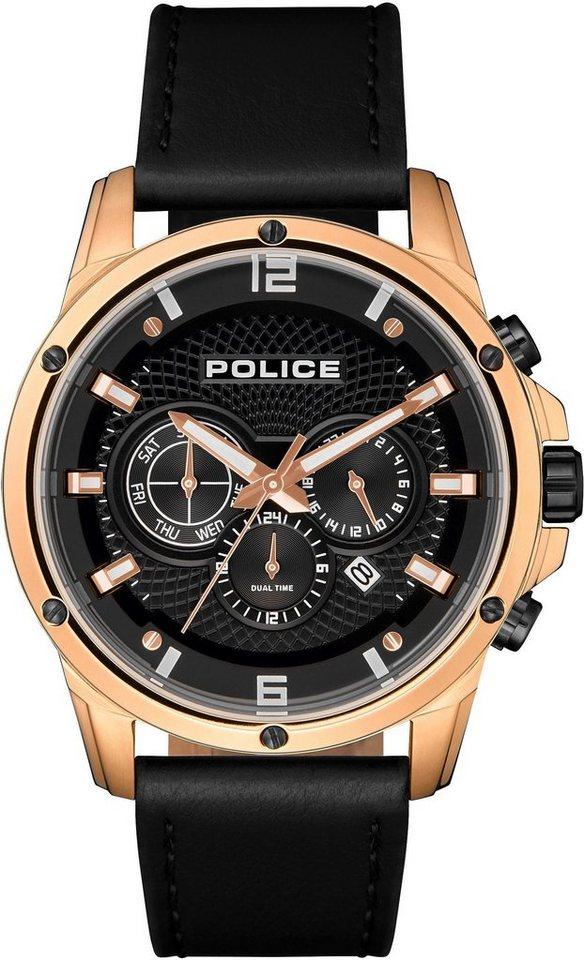 Police Multifunktionsuhr »SHANDON, PL15525JSR.02«   Uhren > Multifunktionsuhren   Schwarz   Police