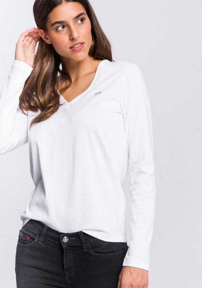 purchase cheap 83ce8 5947b Lacoste Langarmshirt mit appliziertem Logo kaufen | OTTO