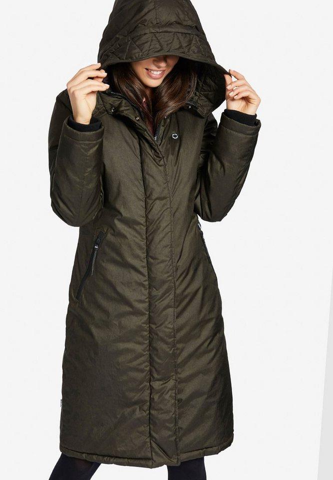 Damen khujo  Wintermantel CAPPI mit Wattierung grün | 04056852401355