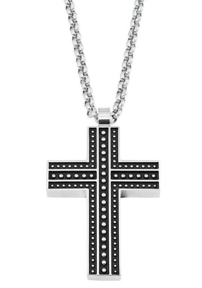 s.Oliver RED LABEL Kreuzkette »2022638« | Schmuck > Halsketten > Kreuzketten | Schwarz | s.Oliver RED LABEL
