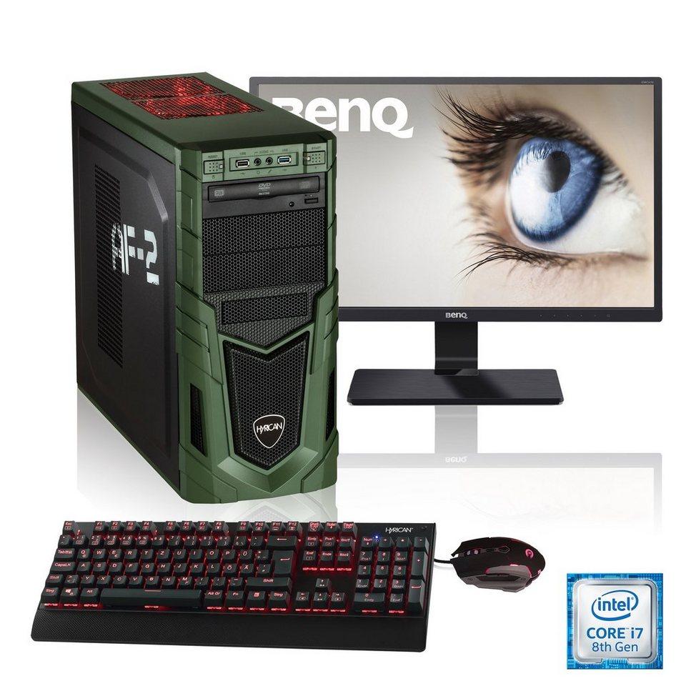 HYRICAN Gaming PC i7-8700, GTX 1060, 16GB RAM + 60,45 cm (23,8