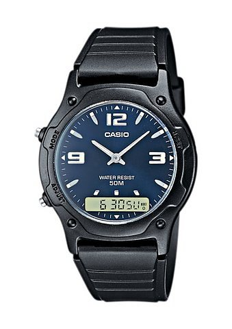 """Casio Collection, Armbanduhr, """"AW-49HE-2AVEF"""" in schwarz"""