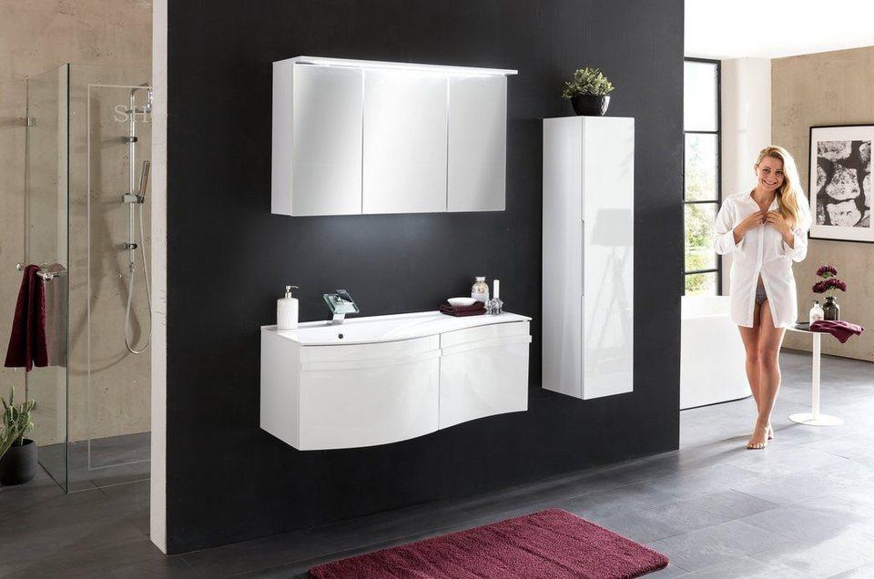 kesper waschplatz set wave 4tlg badm bel waschtisch mit spiegelschrank und schrank online. Black Bedroom Furniture Sets. Home Design Ideas