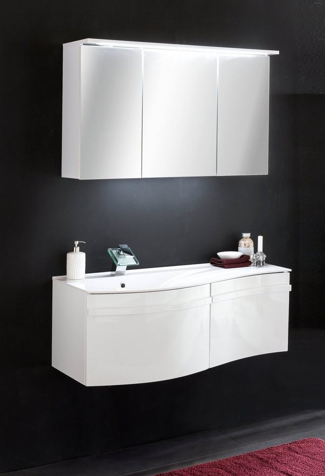 kesper waschplatz set wave 3tlg badm bel waschtisch mit spiegelschrank online kaufen otto. Black Bedroom Furniture Sets. Home Design Ideas
