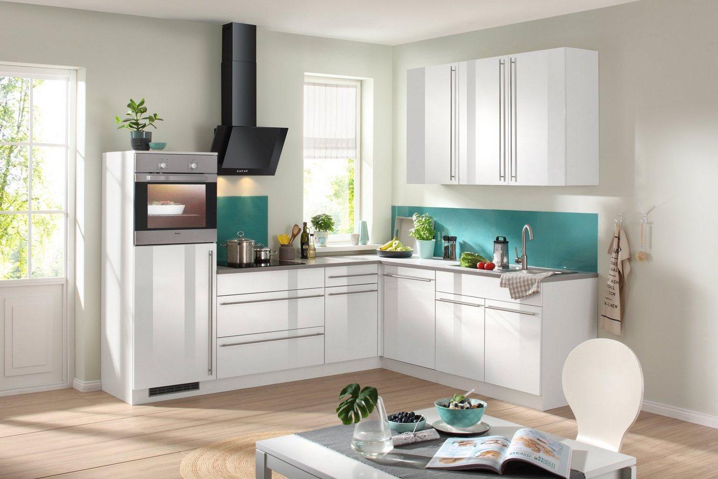 Wiho Küchen WIHO KÜCHEN Küchenzeile Mit E Geräten »Chicago«, Gesamtbreite  260 X 220 Cm