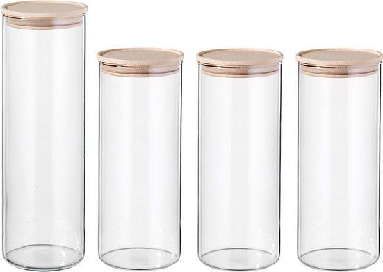 SIMAX Vorratsglas, Borosilikatglas, (4-tlg)