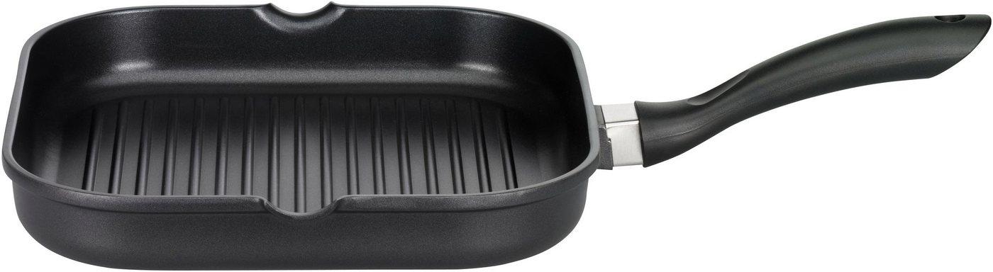Elo - Meine Küche Grillpfanne »Excellent«, Aluminiumguss, 28x28 cm   Küche und Esszimmer > Küchenelektrogeräte > Küche Grill   Schwarz   Elo - Meine Küche