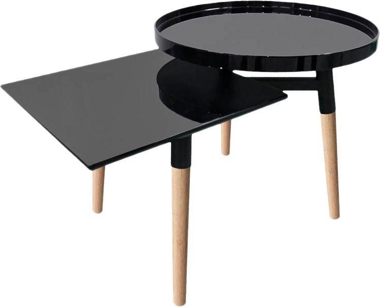 kayoom tabletttisch butler schwarz