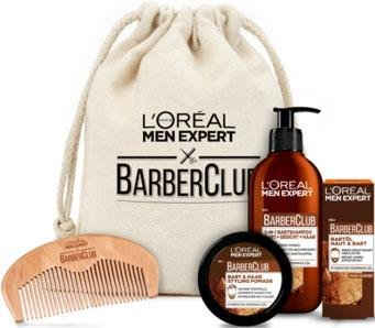 L'ORÉAL PARIS MEN EXPERT Bartpflege-Set »Barber Club Premium«, 5-tlg., die ganze Bartpflegeroutine im coolen Jutebeutel