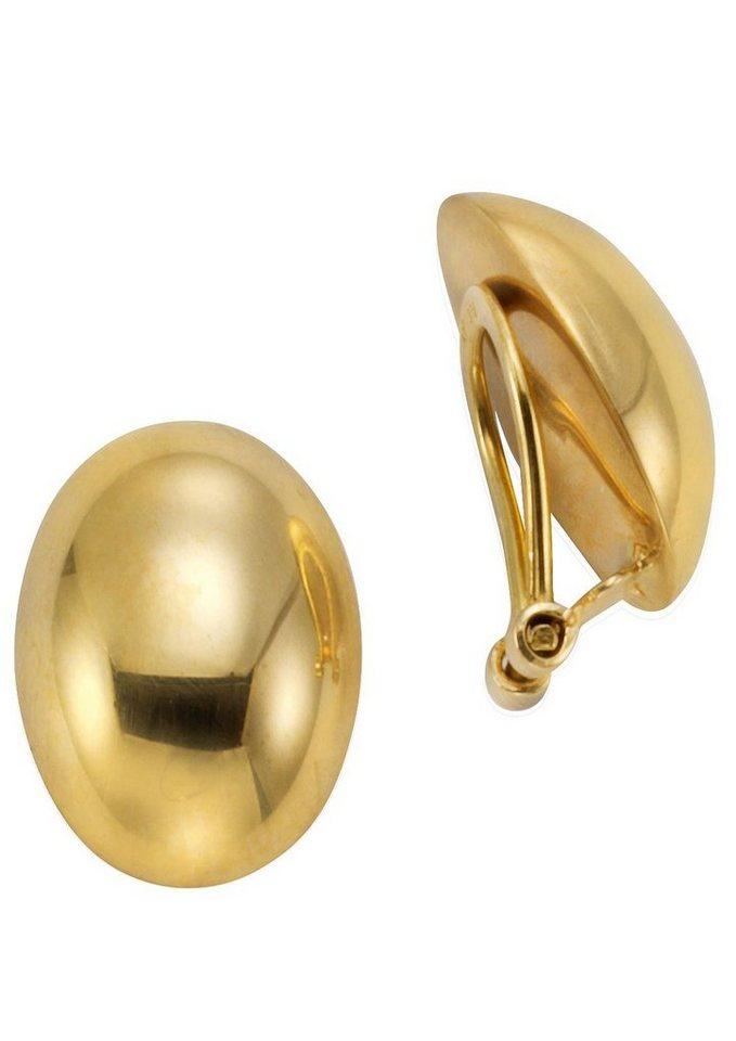 Firetti Paar Ohrclips »ovale Form, glanz« | Schmuck > Ohrschmuck & Ohrringe > Ohrclips | Goldfarben | Firetti