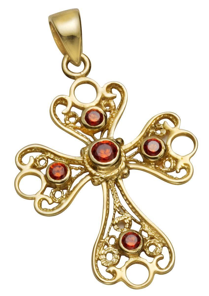 Firetti Kreuzanhänger »Kreuz« mit Granaten, Ornamente