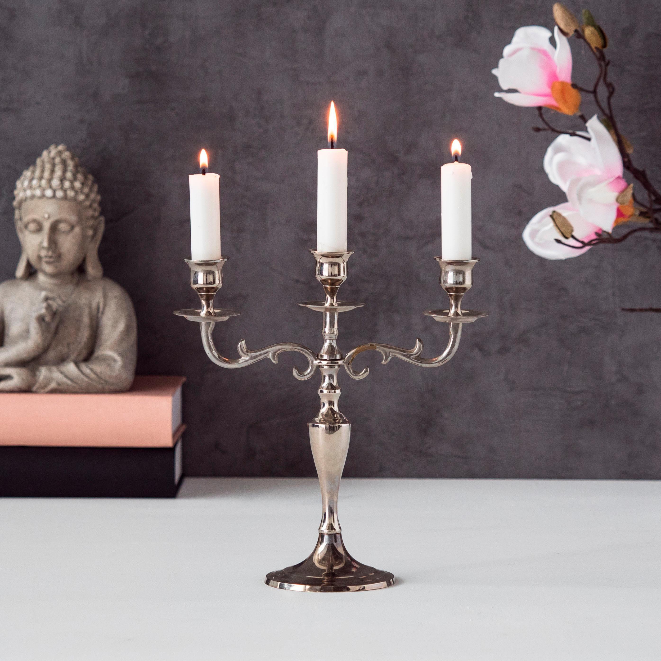 Home affaire Kerzenleuchter »Varas« für 3 Kerzen, Höhe 26cm