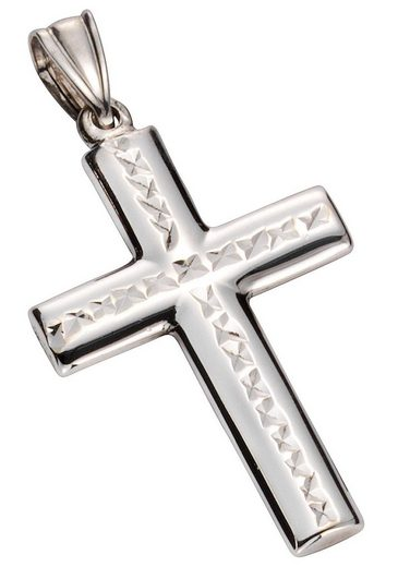 Firetti Kreuzanhänger »Kreuz, glanz, rhodiniert, diamantiert«