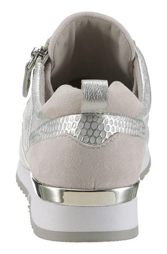 Sneaker Metallicdetail Caprice Am Absatz Mit ZTZwSd