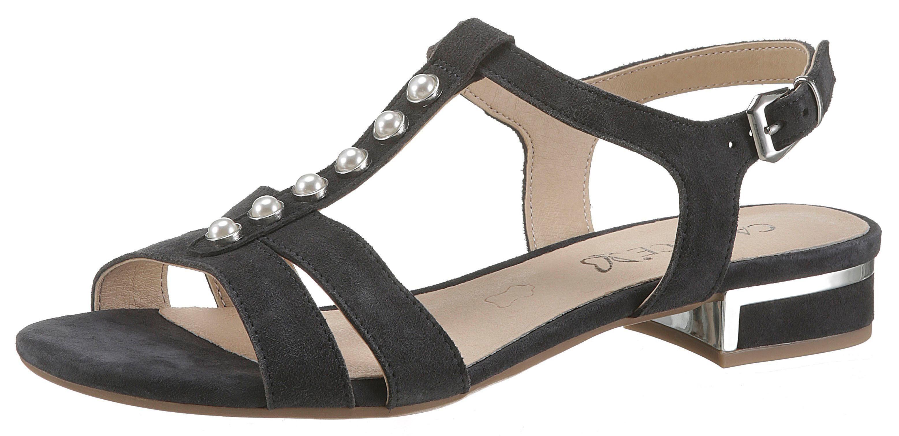 Caprice Sandalette mit Zierperlen geschmückt