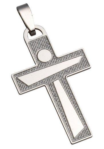 Firetti Kreuzanhänger »Kreuz, glanz, mit Struktur«